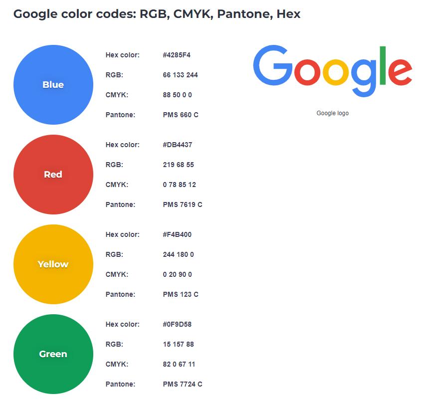 Google Brand Color