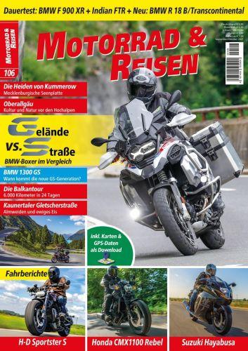 Cover: Motorrad und Reisen Magazin No 106 2021