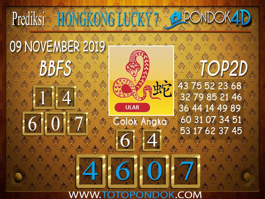Prediksi Togel HONGKONG LUCKY 7 PONDOK4D 09 NOVEMBER 2019