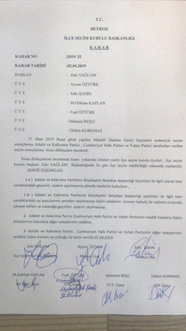 YSK istanbuk iki ilçede oylar yeniden sayılacak