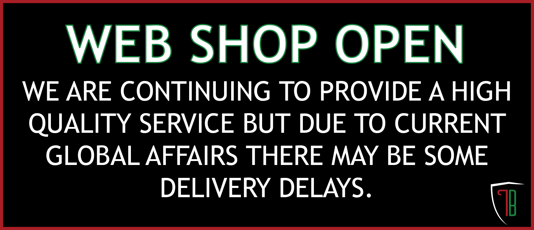 SHIPPING DELAY DUE TO COVID-19