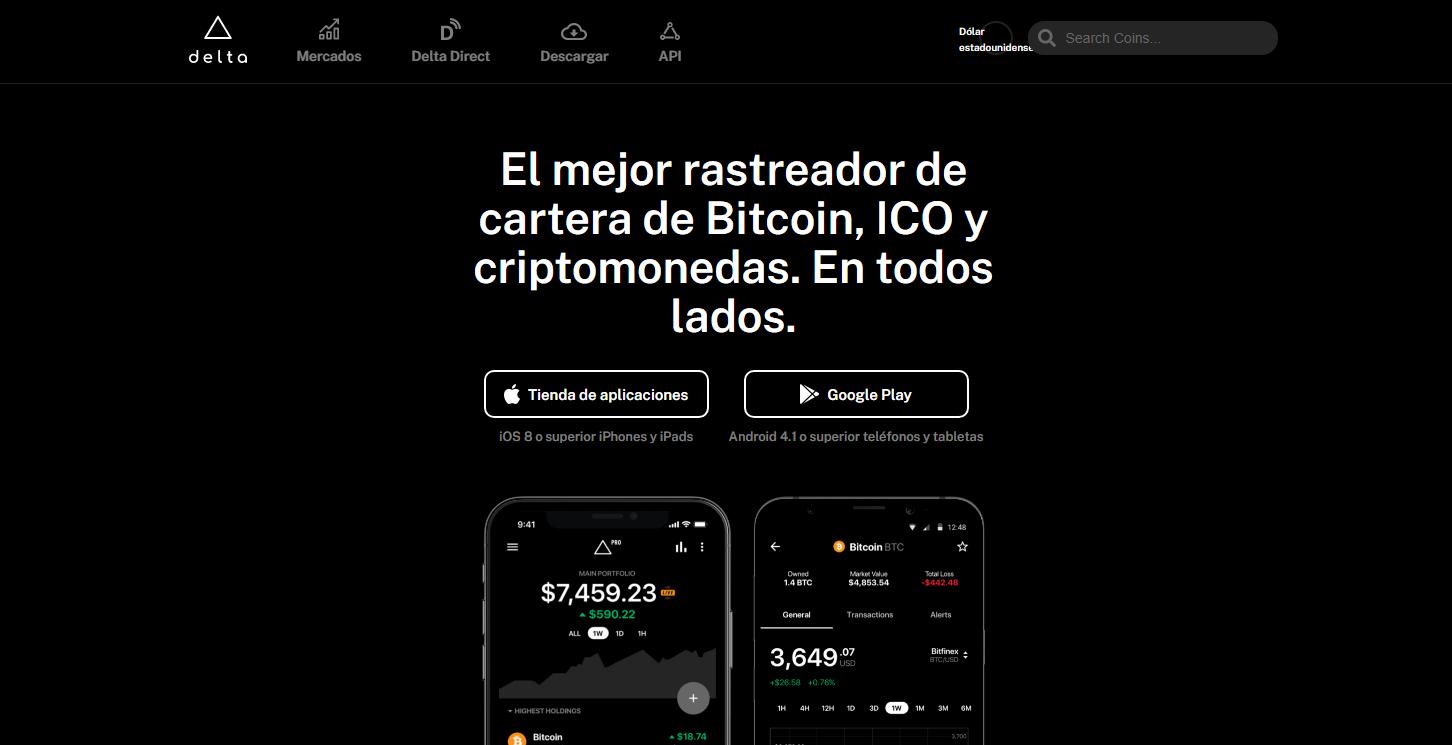 Delta, la mejor aplicación de seguimiento de mercado de criptomonedas