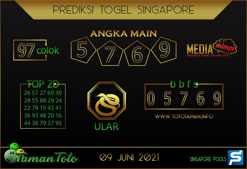 Prediksi Togel SINGAPORE TAMAN TOTO 09 JUNI 2021