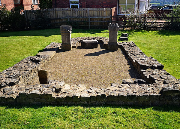 An image of the Temple of Antenociticus, the ruins of which stand in Benwell, Newcastle upon Tyne.
