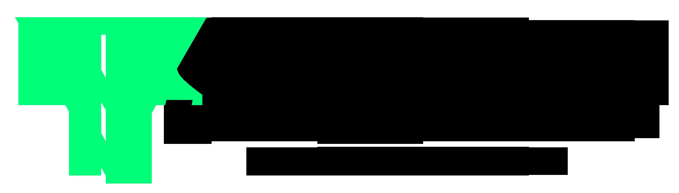 Logo mit Schrift schwarz