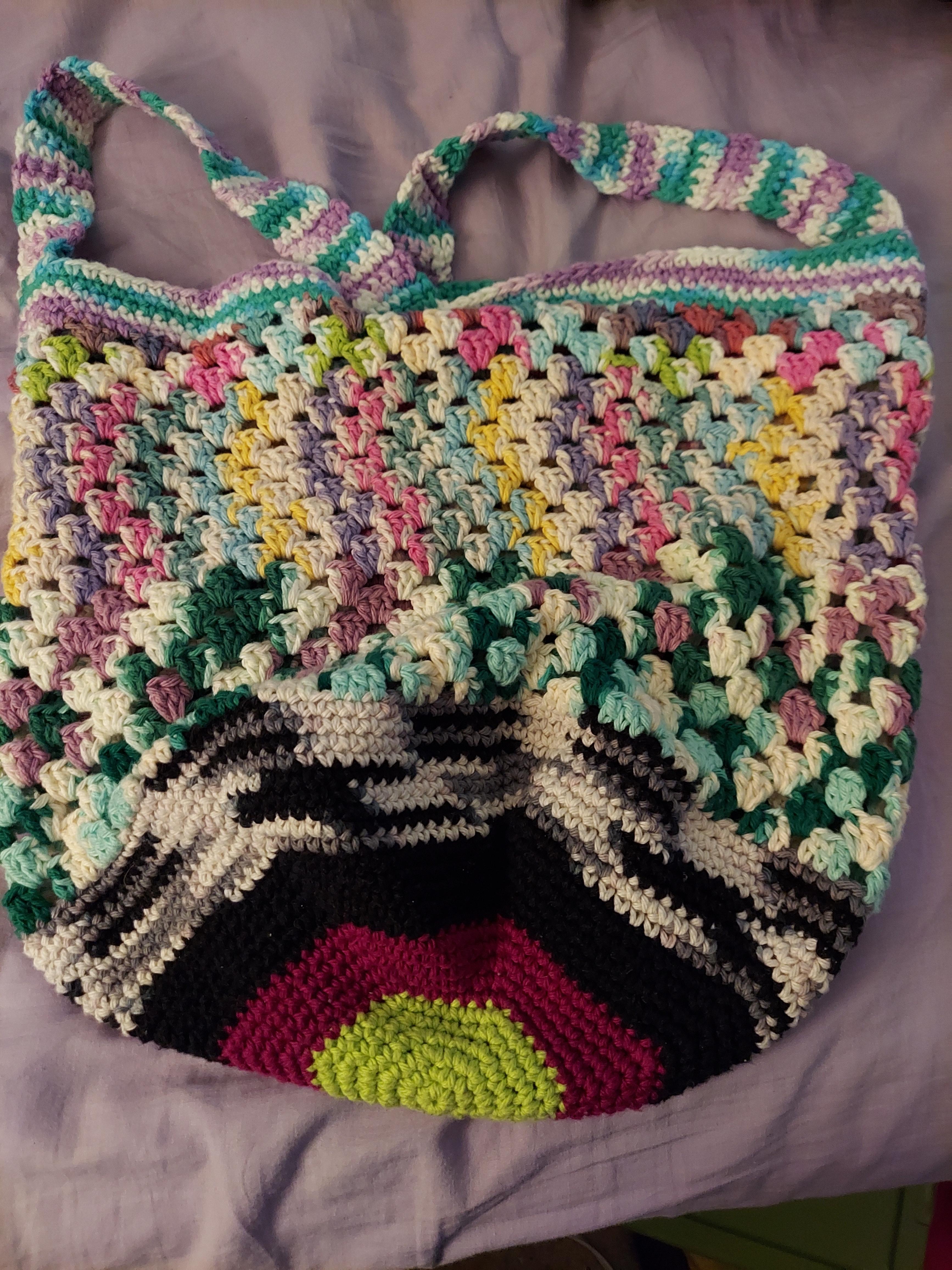 scrap crochet bag