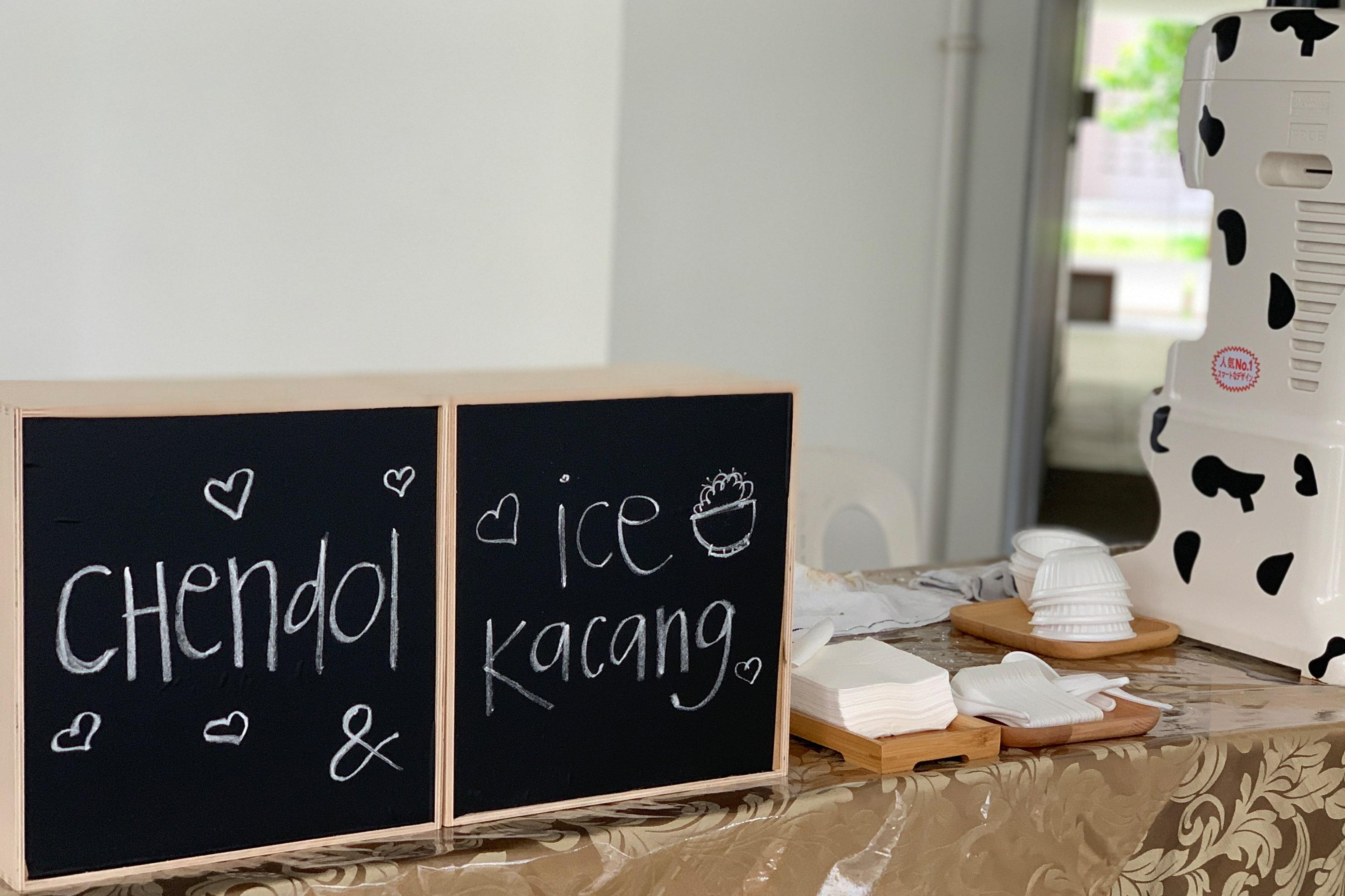 ice kacang and chendol