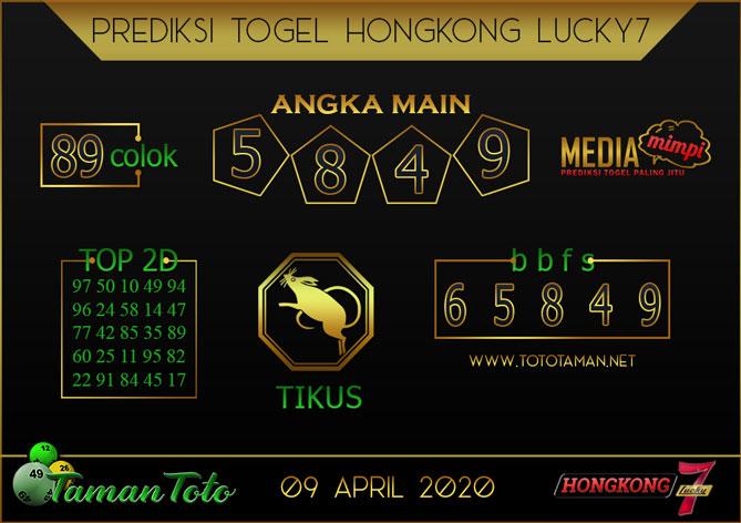Prediksi Togel HONGKONG LUCKY 7 TAMAN TOTO 09 APRIL 2020