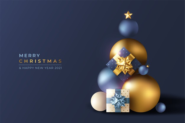 realistic-3d-christmas-background-with-blue-golden-ornaments-1361-3143