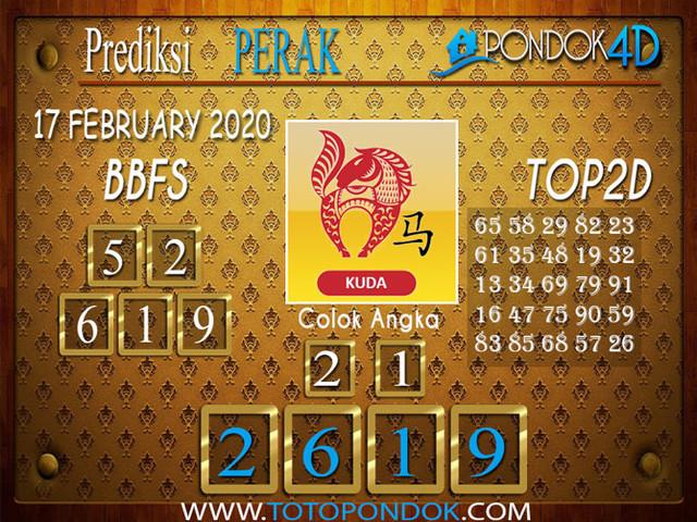 Prediksi Togel PERAK PONDOK4D 17 FEBRUARY 2020
