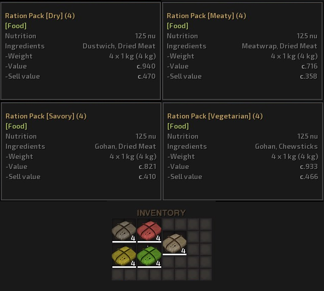 Ration Packs Expanded / Пайки расширение (RU)