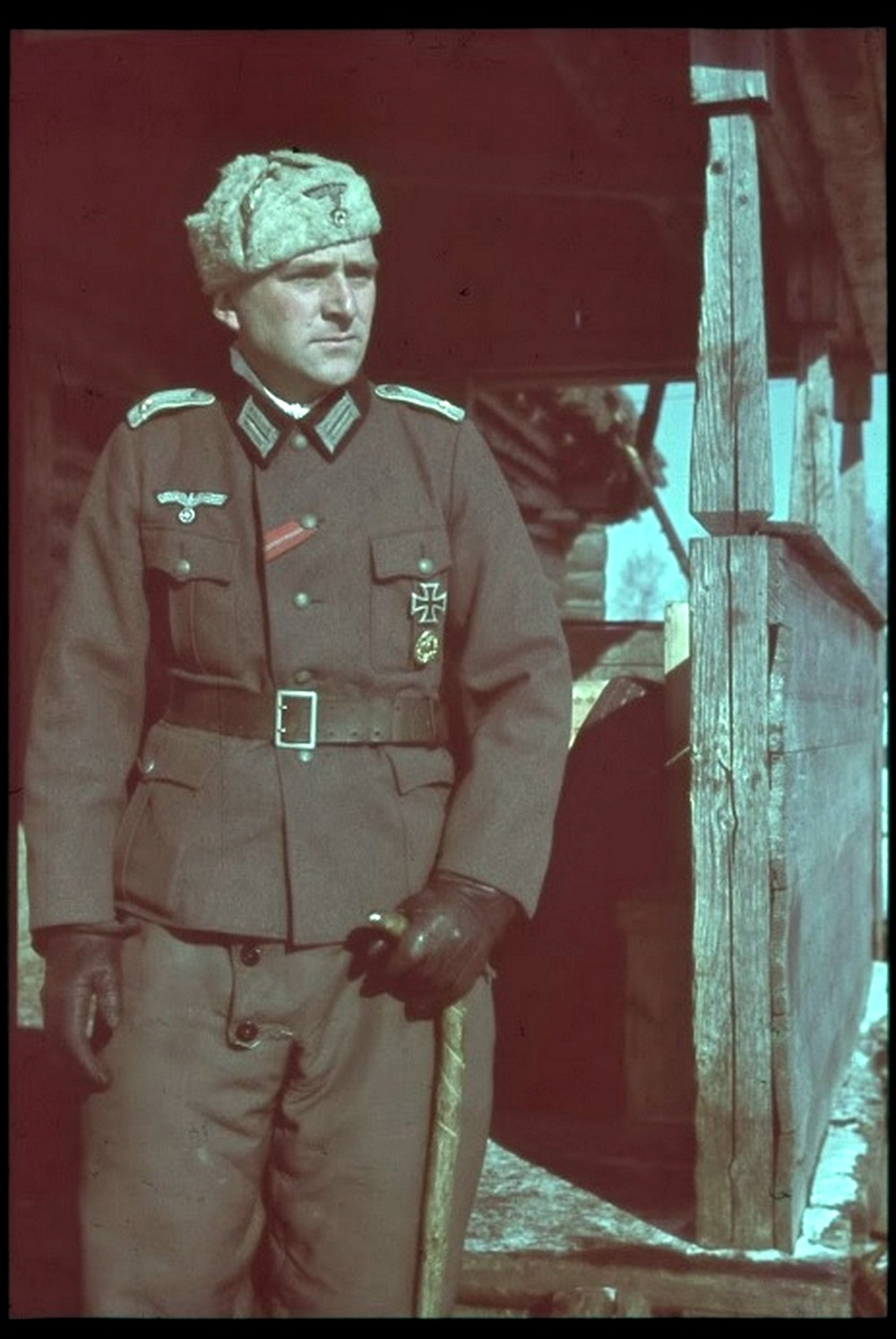 Color photographs of a soldier of the 78th Wehrmacht infantry division