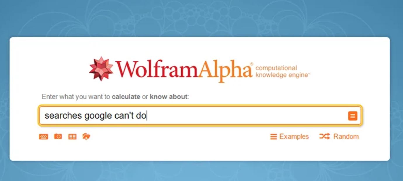 Este es el Input de Wolfram Alpha.