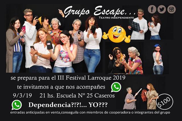 """Locales: El grupo de Teatro """"Escape"""" en el III Festival de Teatro Larroque 2019"""