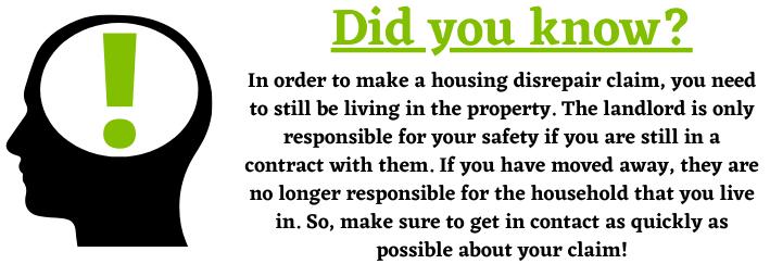 Housing Disrepair Claim landlord responsibility