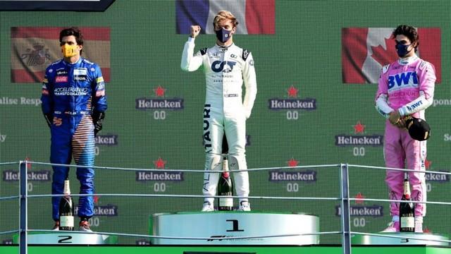 F1 GP d'Italie 2020 : Victoire Pierre Gasly (Alpha Tauri) Carlos-jr-Pierre-Gasly-Lance-Stroll