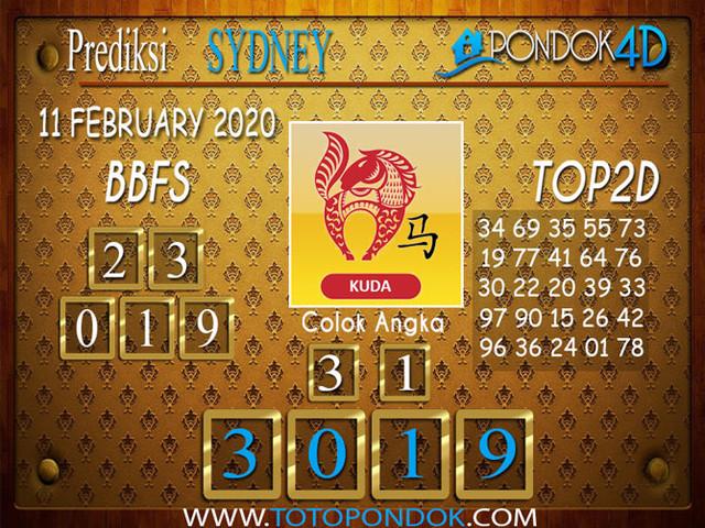 Prediksi Togel SYDNEY PONDOK4D 11 FEBRUARY 2020
