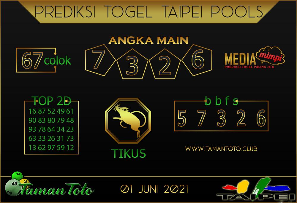 Prediksi Togel TAIPEI TAMAN TOTO 01 JUNI 2021