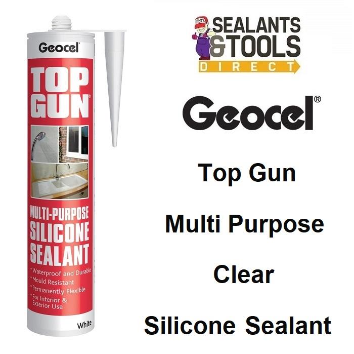 Geocel Top Gun Multi Purpose Silicone Sealant Clear