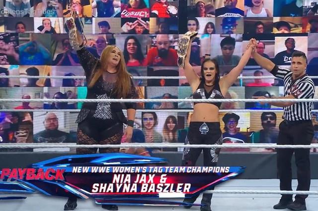 Shayna Baszler y Nia Jax Nuevas Campeonas en Pareja
