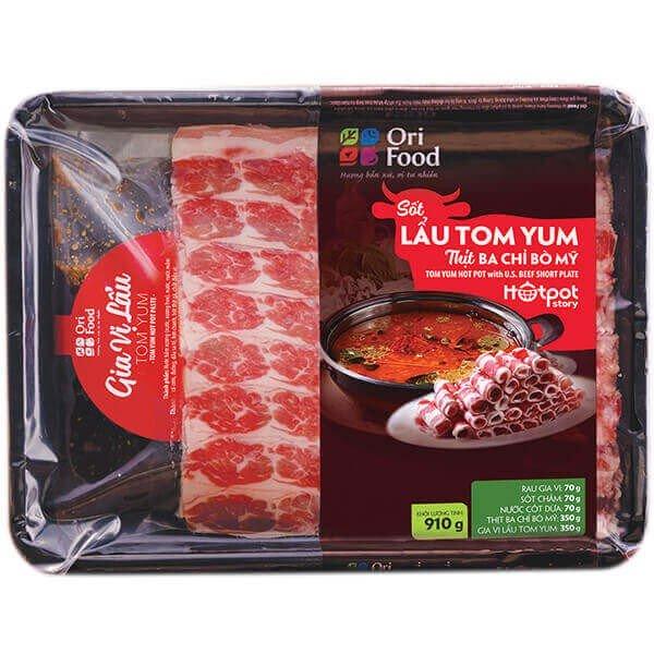 Hotpot Story- Lẩu Tomyum Ba Chỉ Bò Mỹ- 910-1300gr- Ori Food