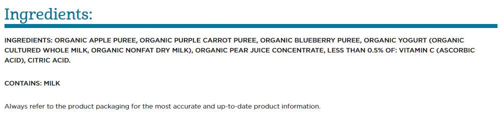 Ingredients-gerber-yogurt