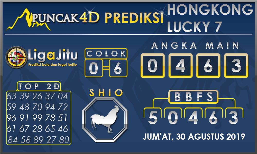PREDIKSI TOGEL HONGKONG LUCKY7 PUNCAK4D 30  AGUSTUS 2019