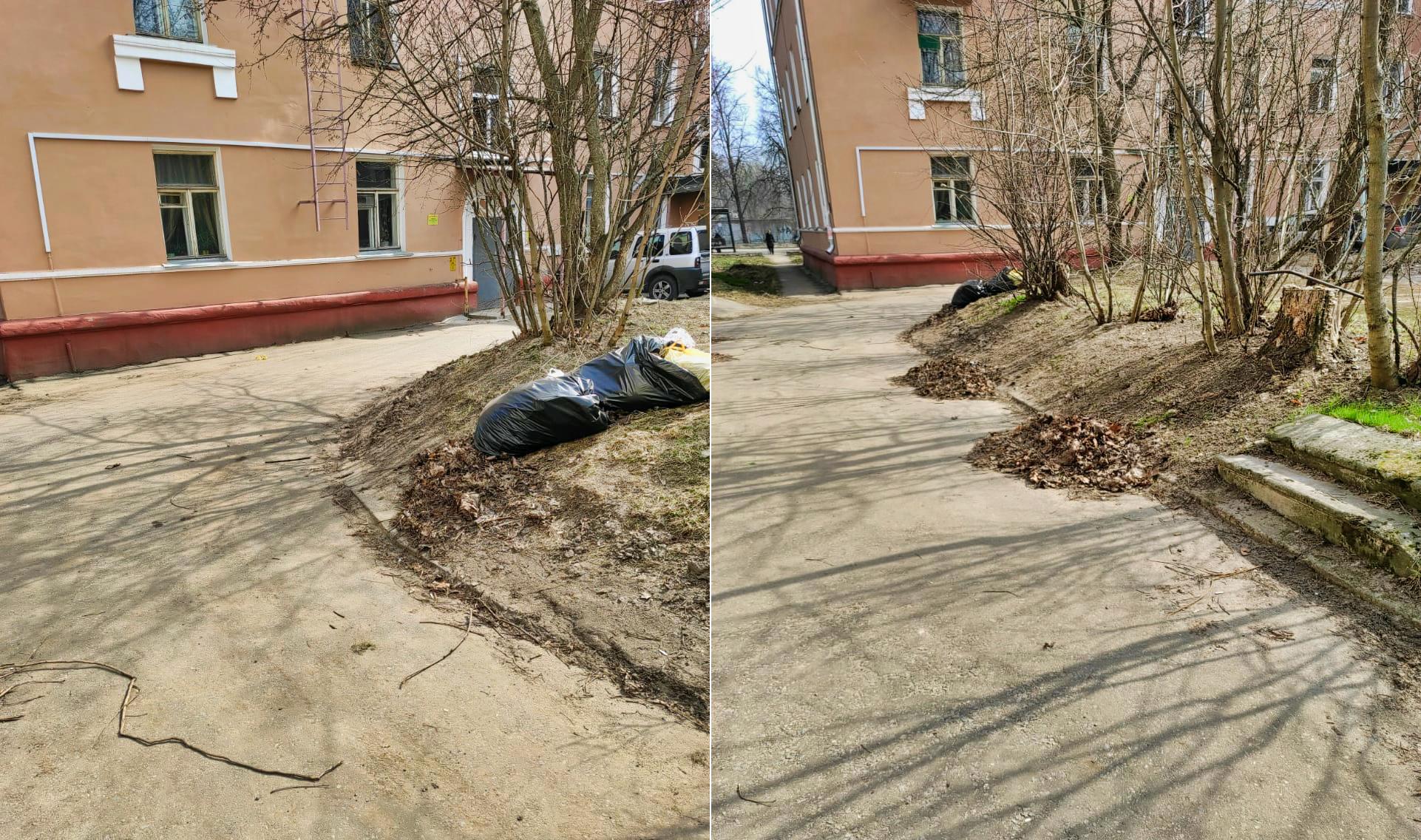 Продолжаем уборку дворов в рамках месячника по благоустройству