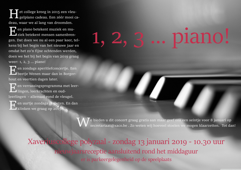 uitnodiging 123piano, concert 12 januari om 10h30