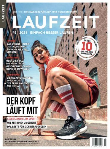 Cover: Laufzeit Magazin No 05 August-September 2021