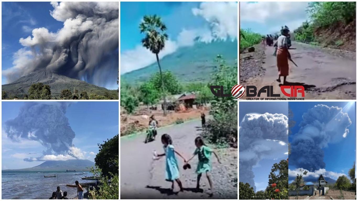 (VIDEO) POTRESNE SCENE LJUDI KOJI BJEŽE: Snimka erupcije vulkana na indonezijskoj planini još jednom pokazuje razornu moć prirode!