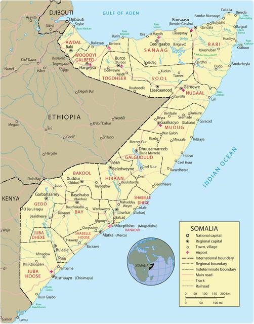 Somali map