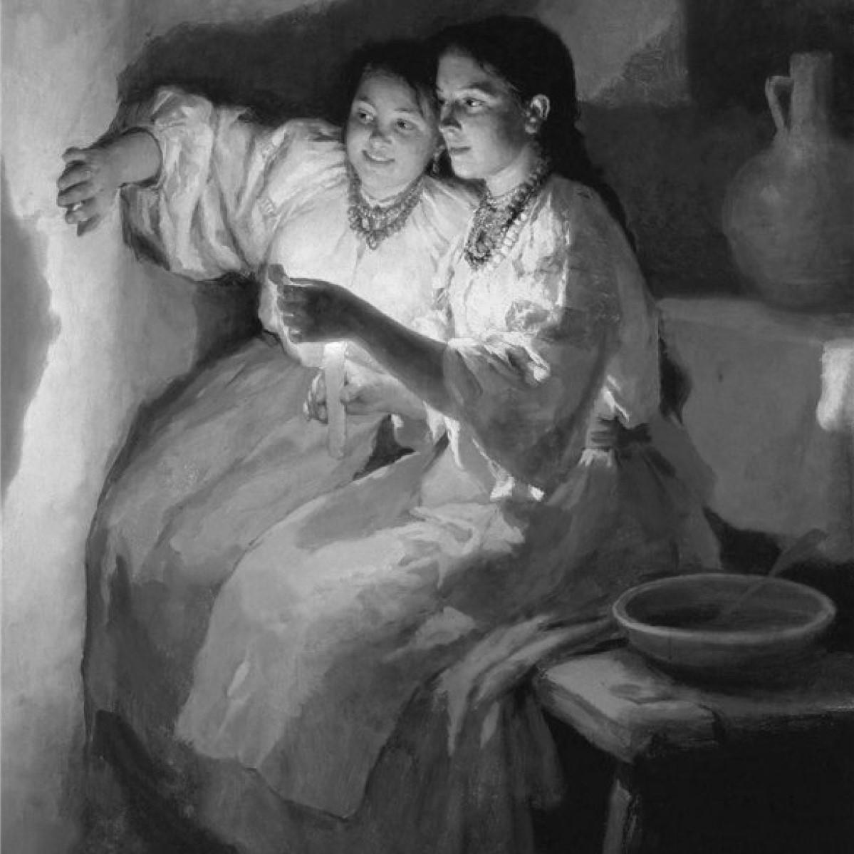 Картина «Святочне Ворожіння». 1888. М. Пимоненко.