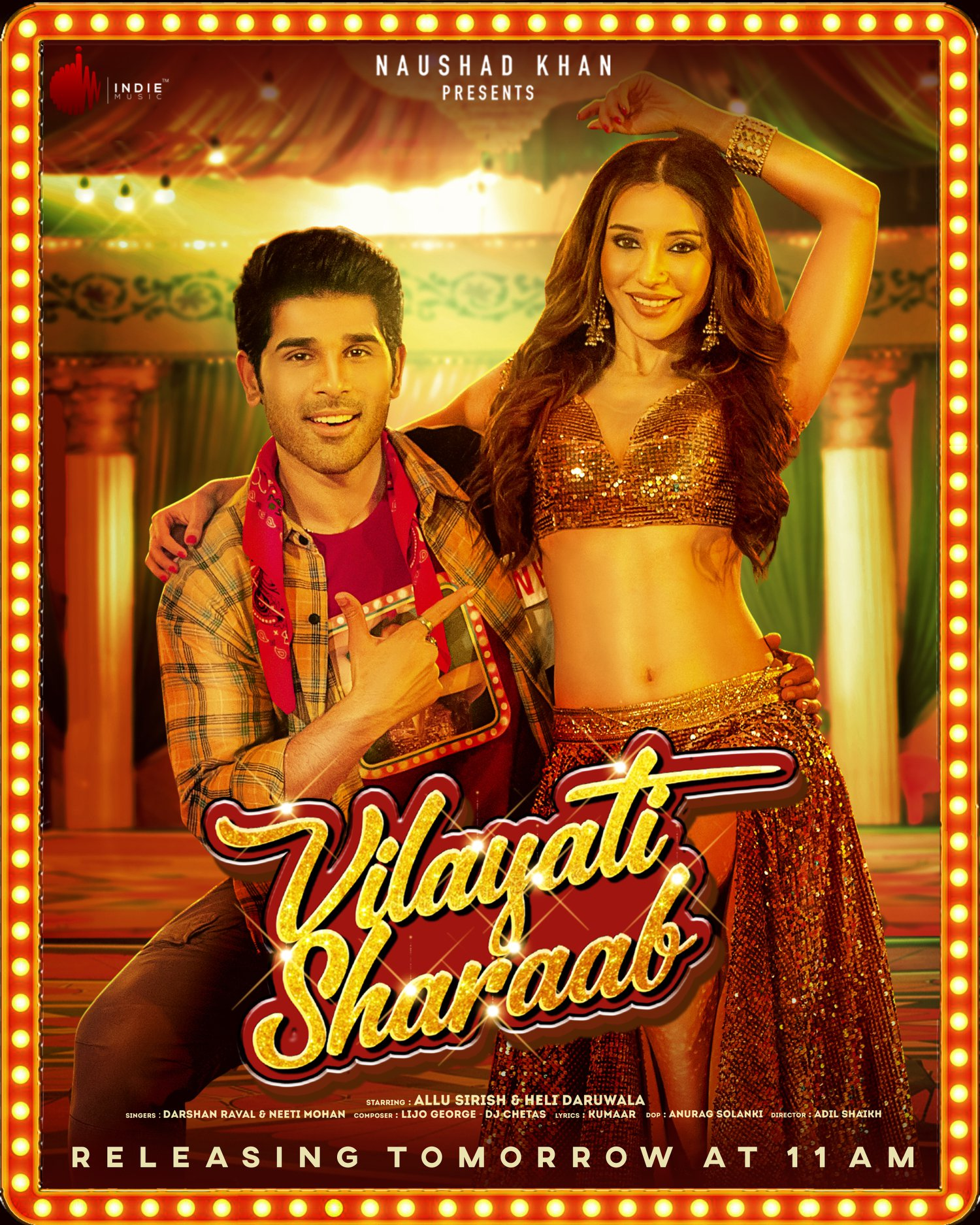 Vilayati Sharaab (2021) Hindi Official Music Video Ft. Allu Sirish & Heli Daruwala HD