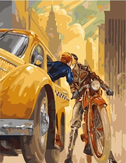 Картина по номерам Поцелуй в Нью-йорке GX23885