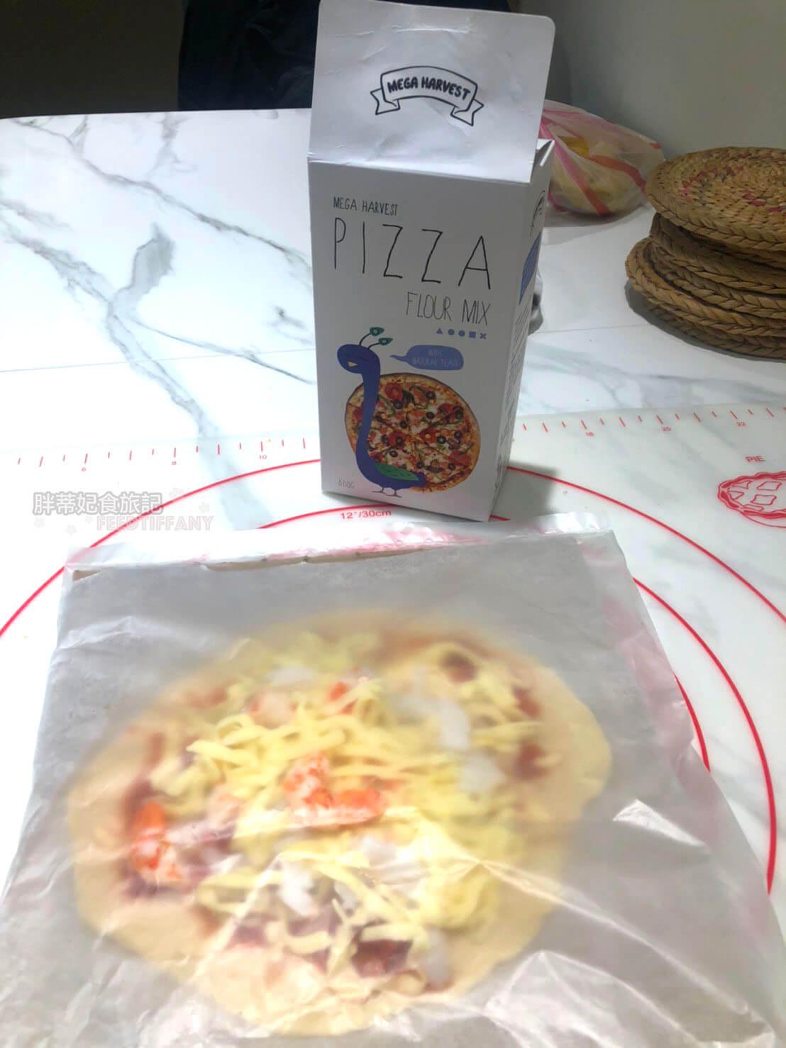 用 Mega Harvest烘焙預拌粉 的pizza預拌粉做出來的成品