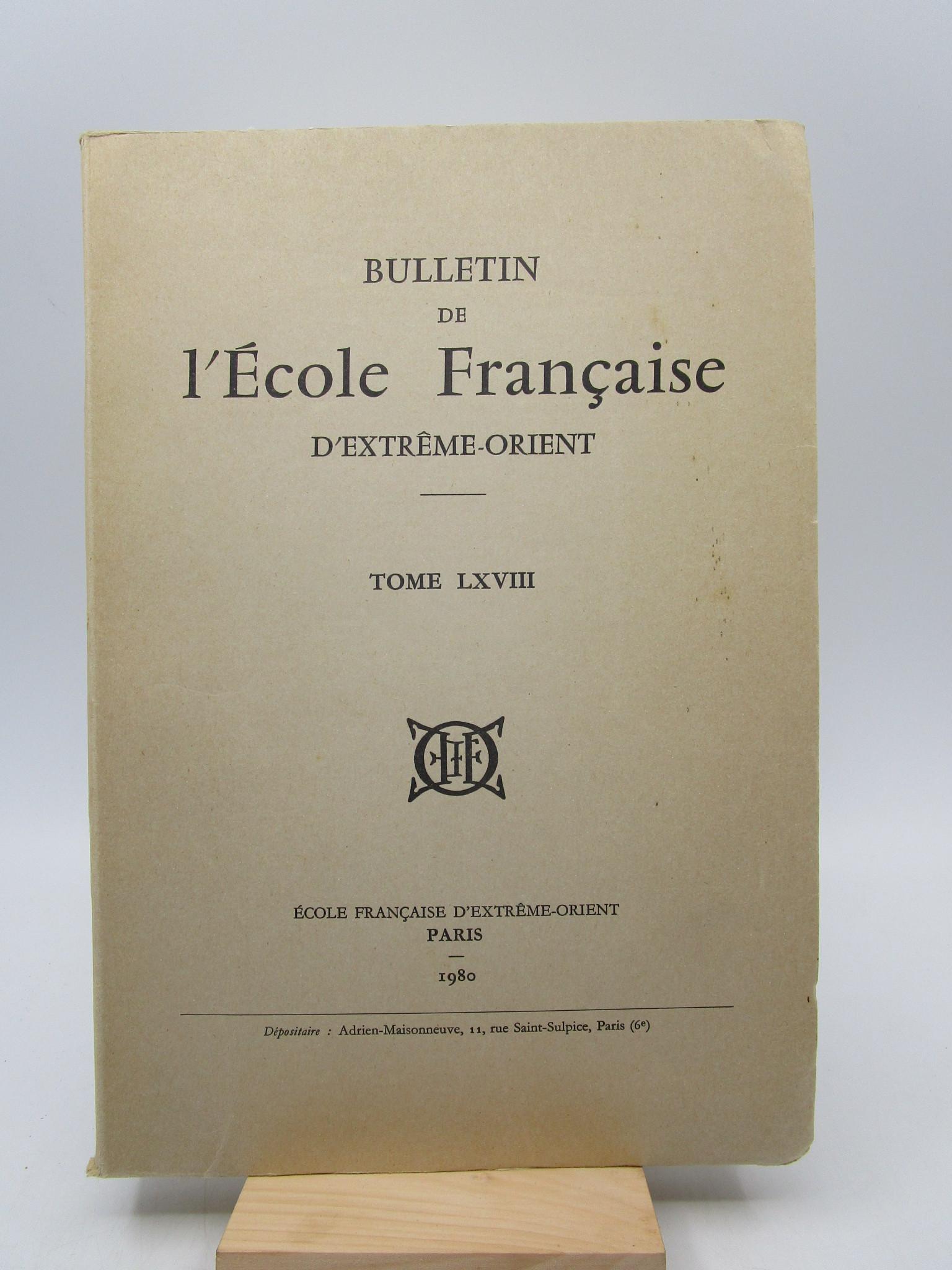 Image for Bulletin de l'Ecole Franaise d'Extrme-Orient, Tome LXVIII