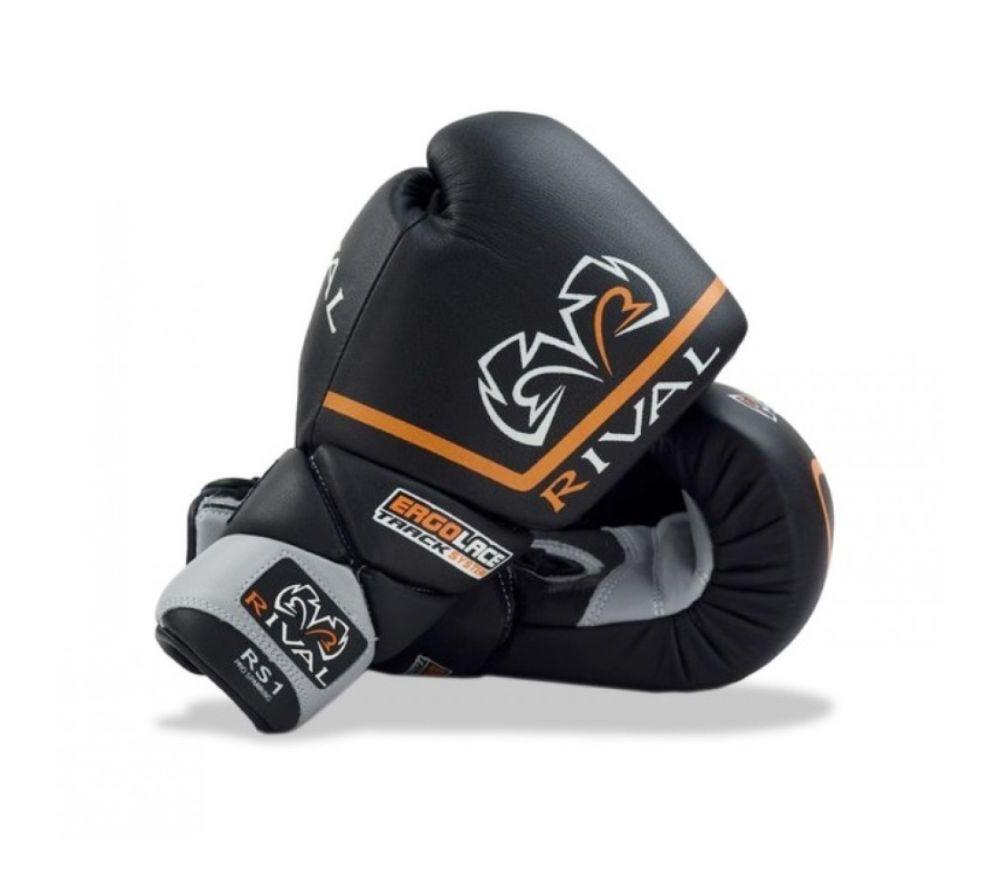 Боксерские перчатки Rival Sparring Boxing Gloves Ergo Laces Черные