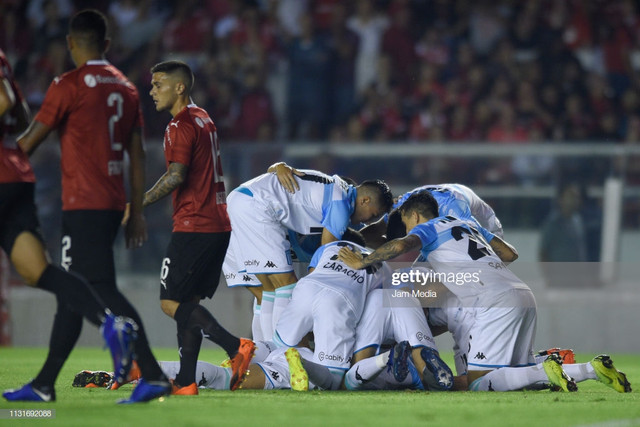 AVELLANEDA-ARGENTINA-FEBRUARY-23-Alejandro-Donatti-L-of-Racing-Club-celebrates-with-teammates-after-