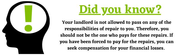 Landlord Housing Disrepair Claim help