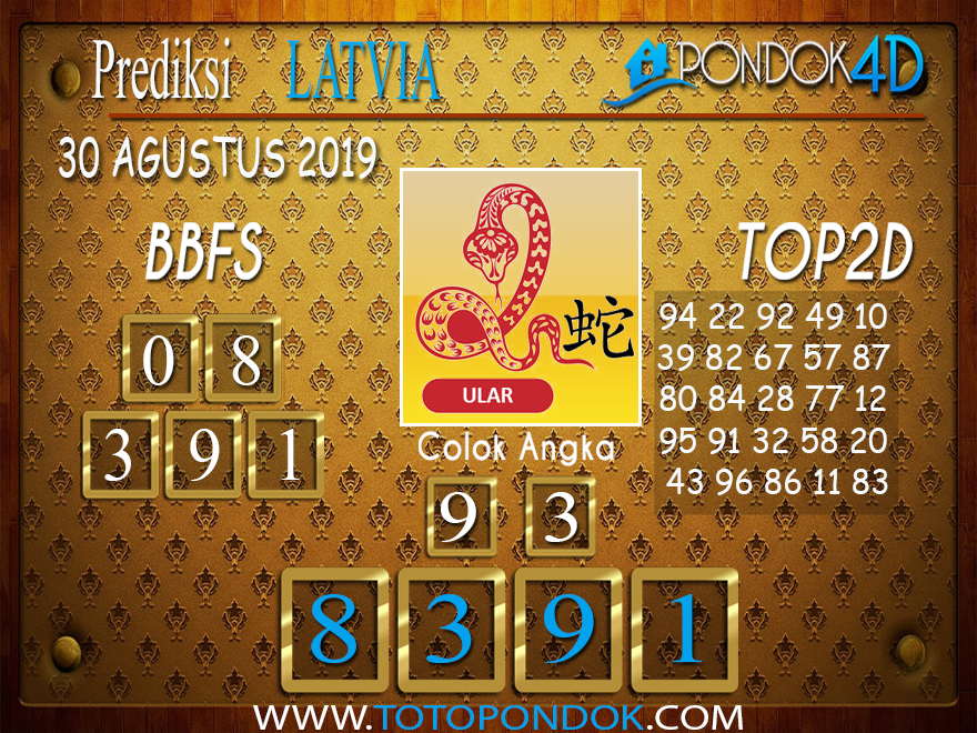 Prediksi Togel LATVIA POOLS PONDOK4D 30 AGUSTUS 2019