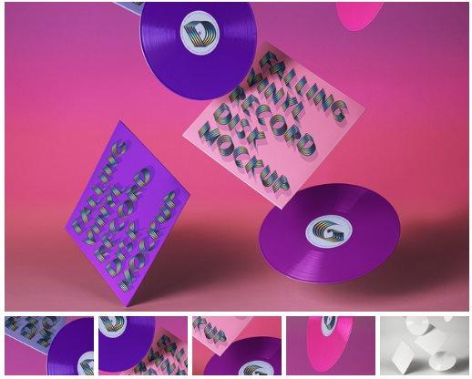 Gravity Psd Vinyl Record Mockup
