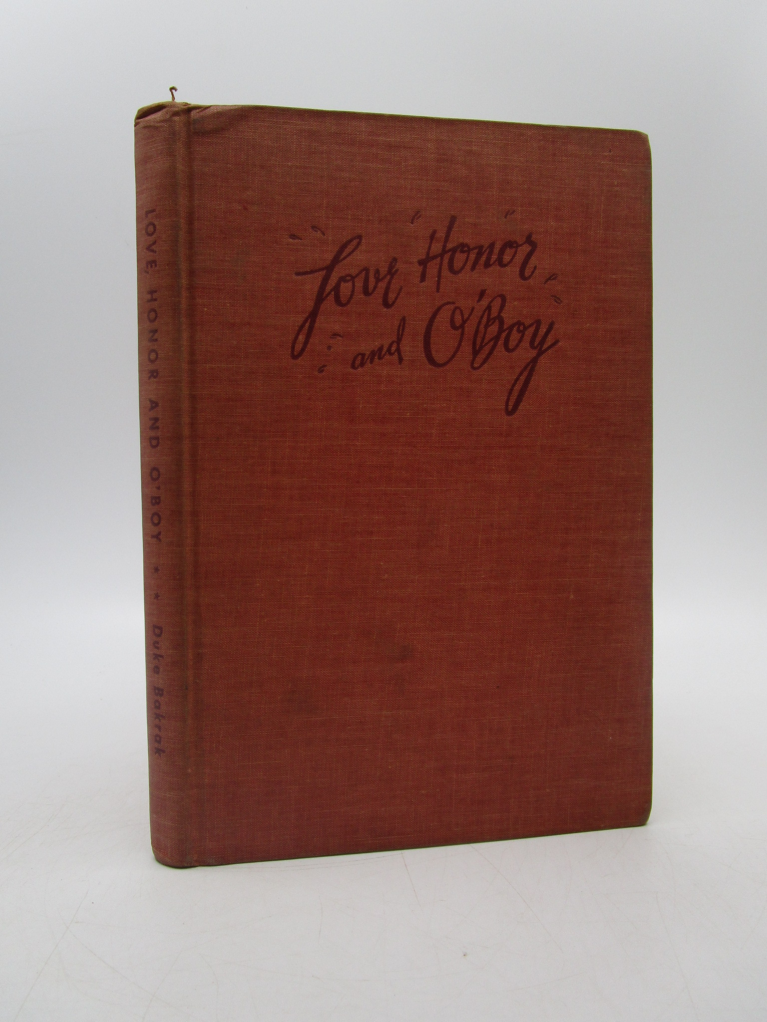 Image for Love, Honor and O'Boy (Signed First Edition)