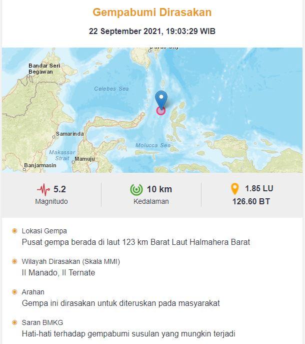 Gempa guncang Halmahera Barat