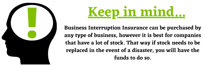 business interruption insurance stock and claims