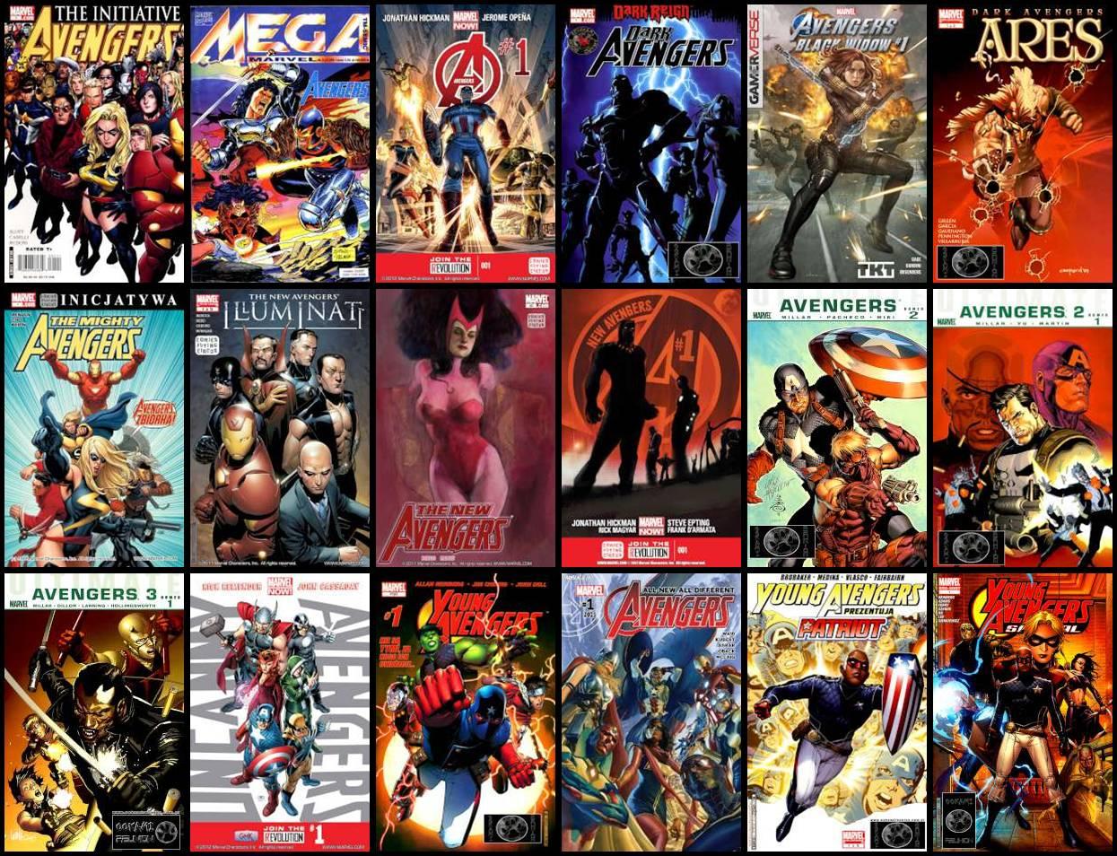 Avengers - Różne Komiksy