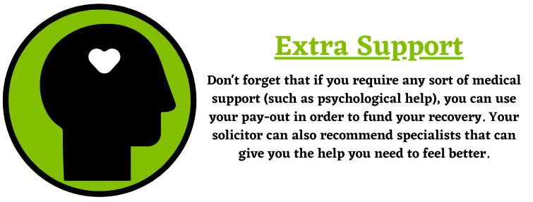 extra support about a personal injury claim
