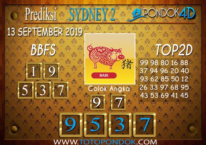 Prediksi Togel SYDNEY 2 PONDOK4D 13 SEPTEMBER 2019