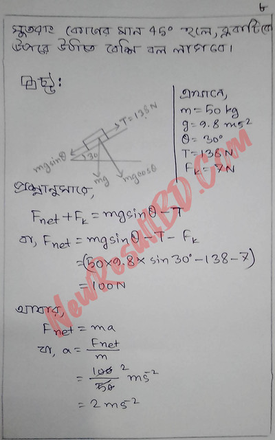 HSC Physics 4th Week Assignment 2021 Answer