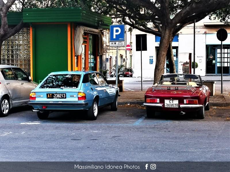 avvistamenti auto storiche - Pagina 33 Fiat-124-Sport-Spider-1-6-110cv-75-CT869539-e-Lancia-Beta-HPE-1-6-102cv-78-AT238213-93-330-19-08-2015